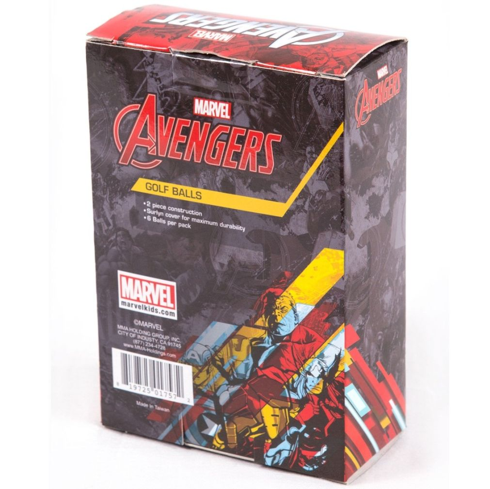 Avengers Golf Balls - Mixed Sleeve 6 Balls