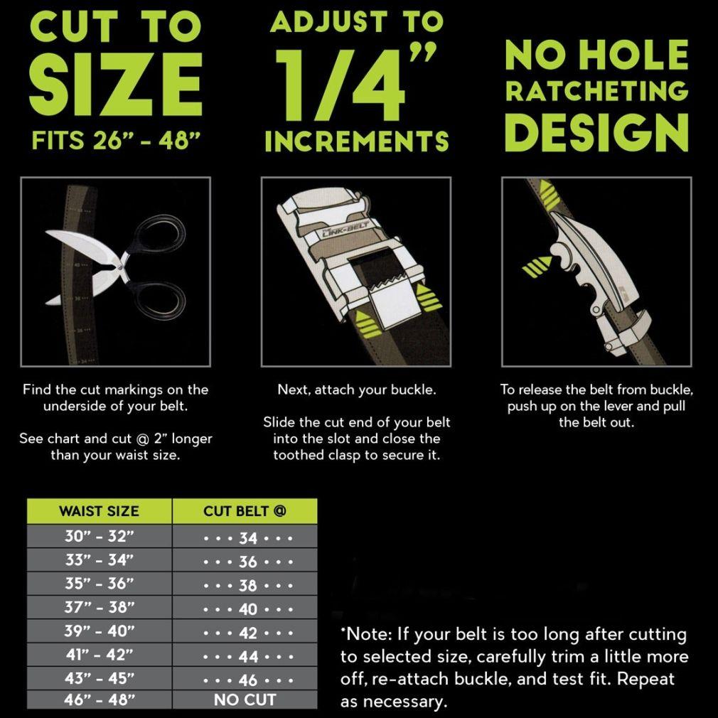 Ratcheting Golf Belt - Brown