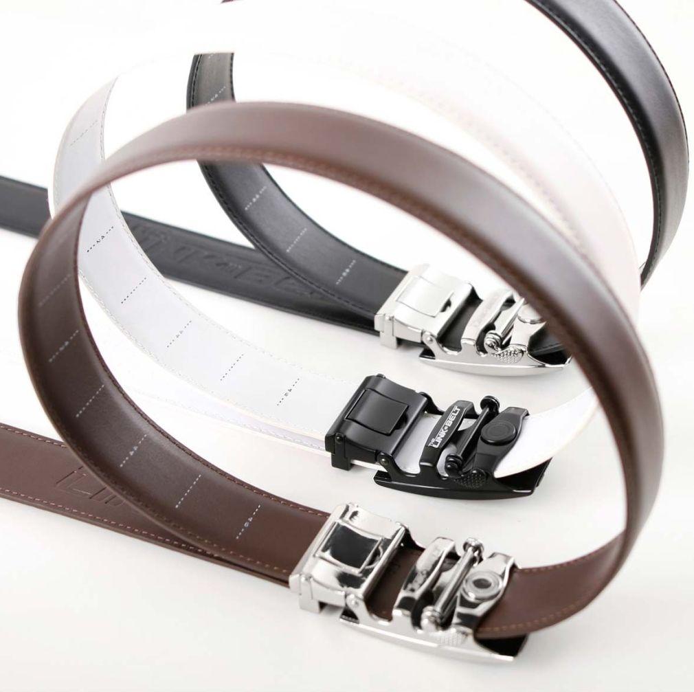 Ratcheting Golf Belt - White