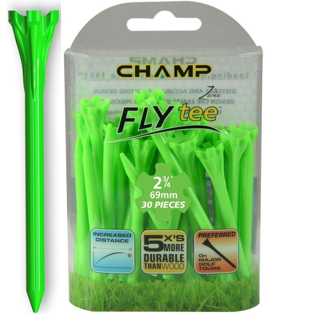 "Champ Zarma FLYTee - 2.75"" Lime Green Golf Tees 30 pack"