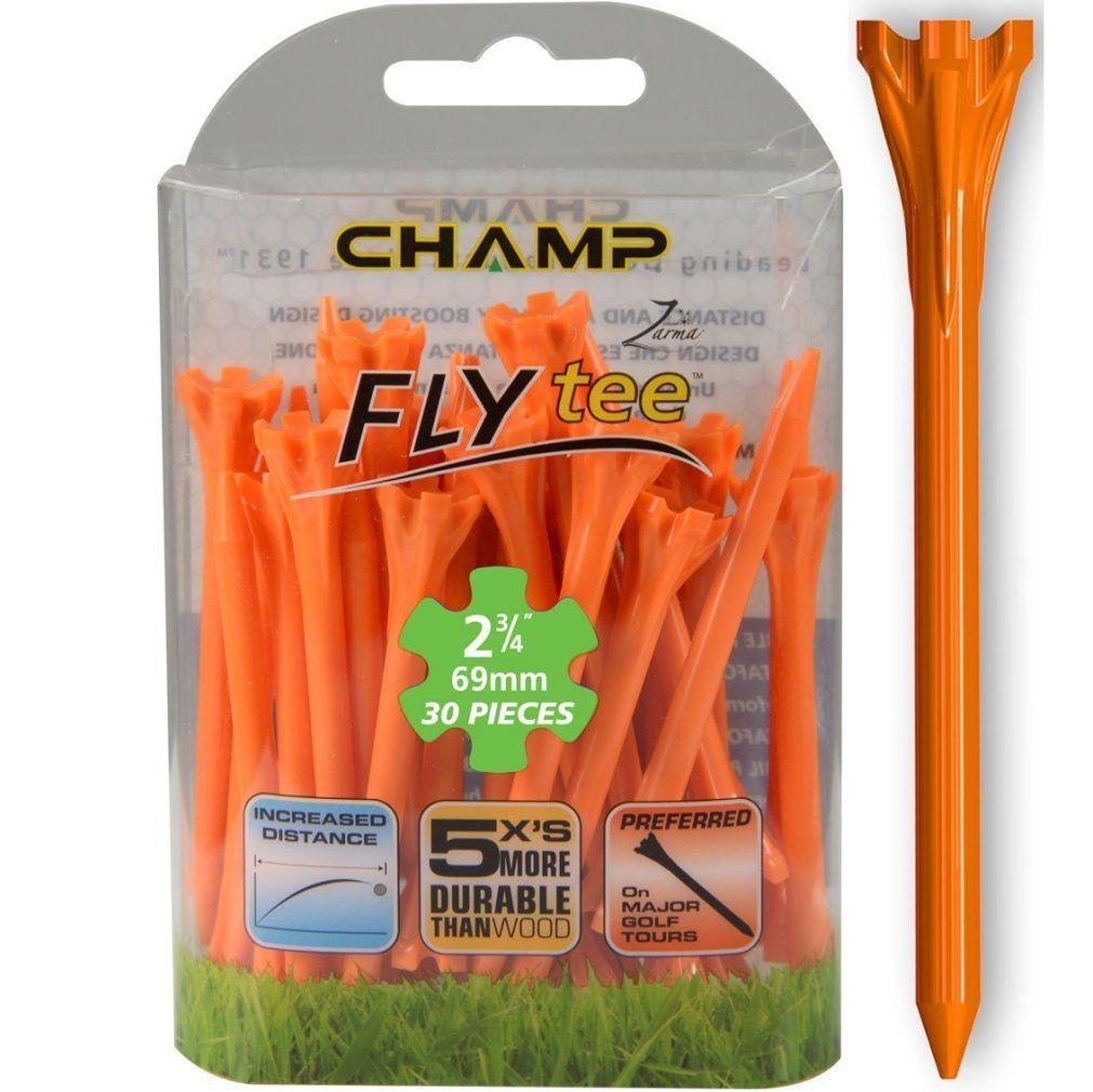 """Champ Zarma FLYTee - 2.75"""" Orange Golf Tees 30 pack"""