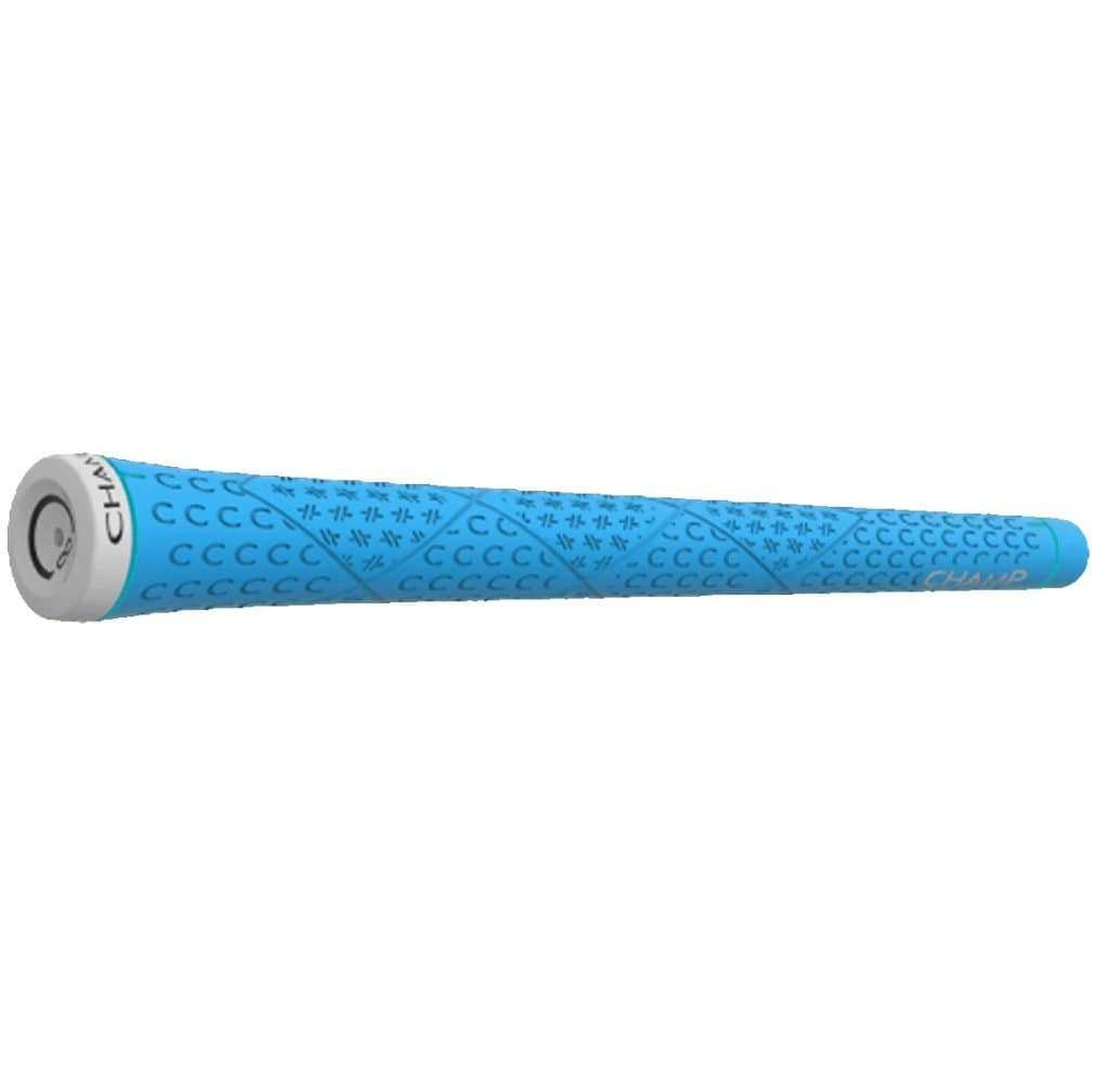 "Champ C8 Golf Grip - Standard Neon Blue 0.580"" Ribbed"