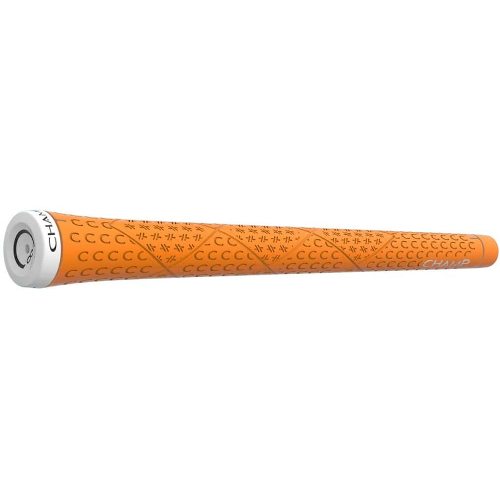"Champ C8 Golf Grip - Standard Neon Orange 0.600"" Ribbed"