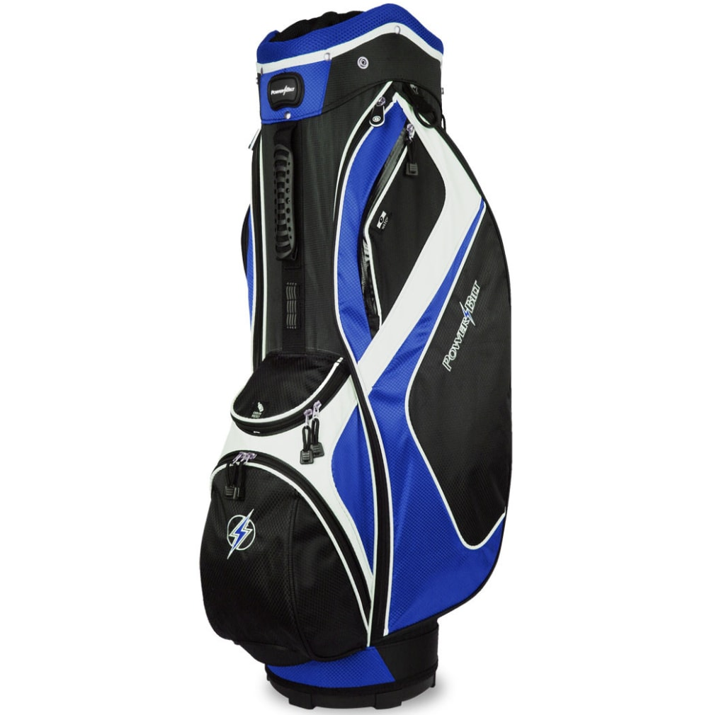Powerbilt Air Attack Black/Blue Cart Bag
