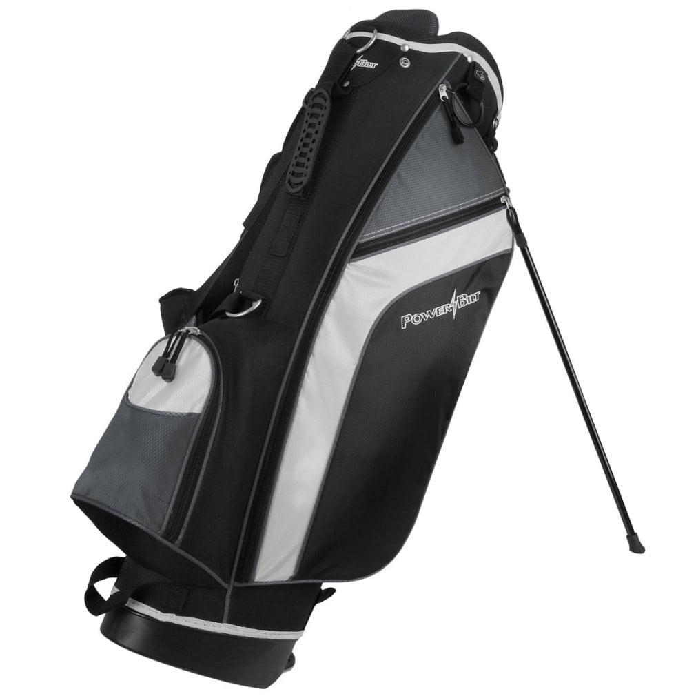 PowerBilt Santa Rosa Stand Bag, Black/Charcoal