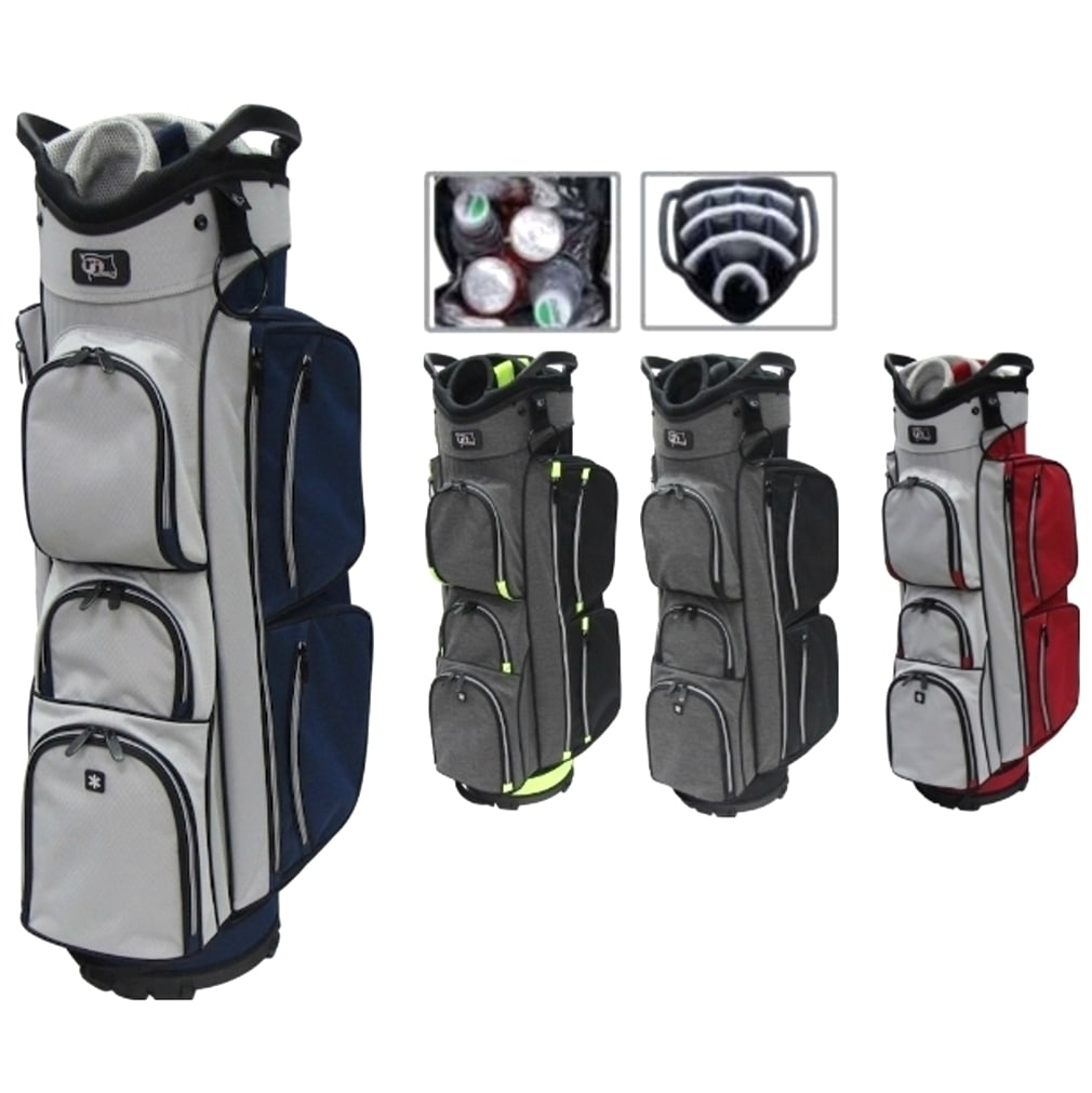 RJ Sports EL-680 Cart Bag - Red/Grey