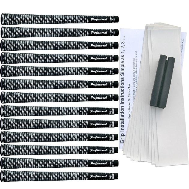 Professional Velvet Standard Black/White Grip Kit