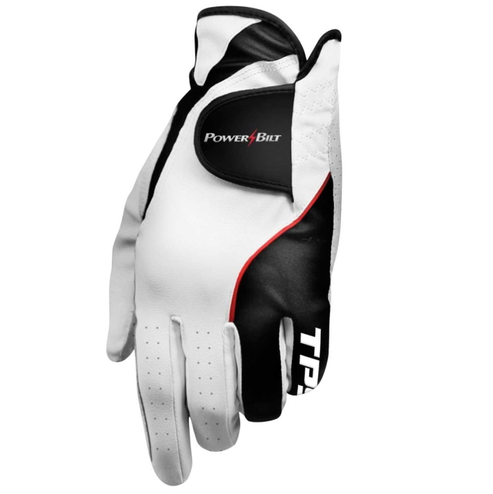 Powerbilt TPS Cabretta Golf Glove, Left Hand Player