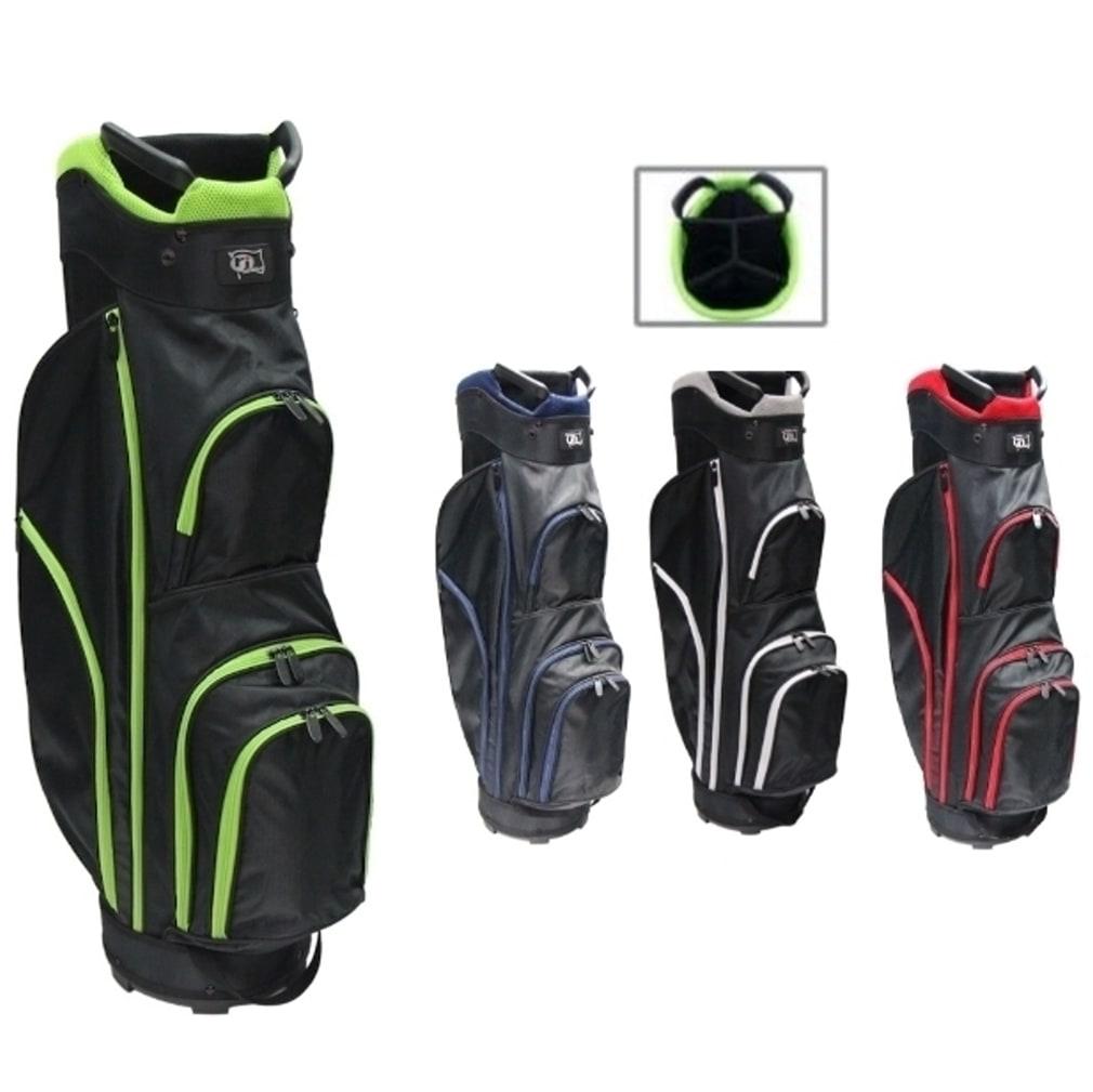 RJ Sports CC-490 Cart Bag - Black/Lime Green