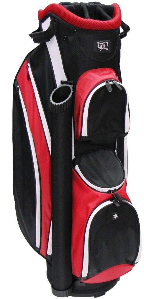 RJ Sports DS-590 Cart Bag - Black/Red