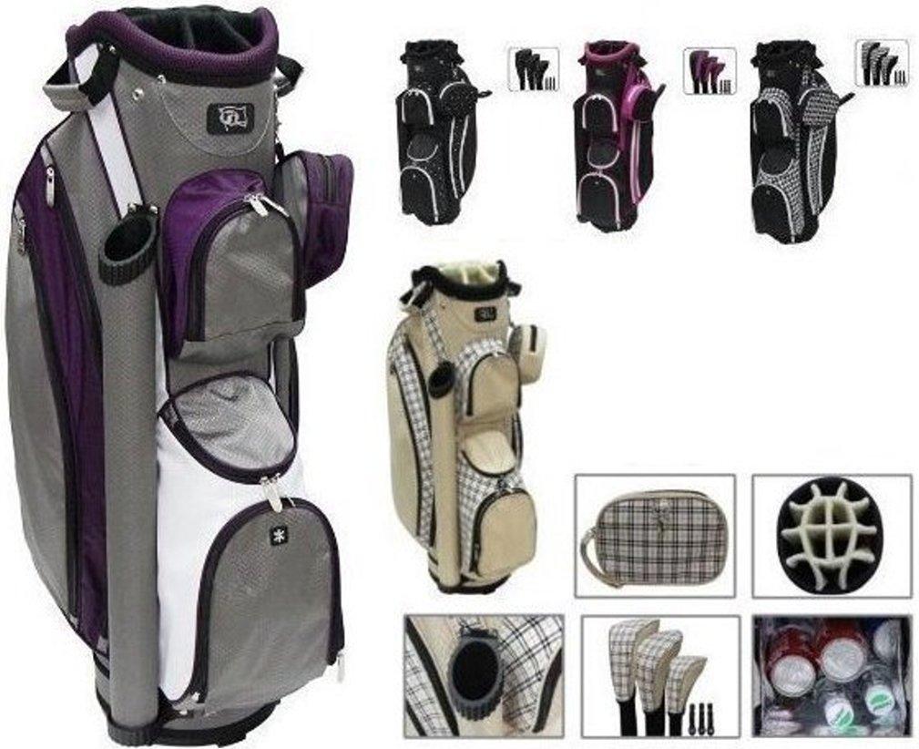 RJ Sports LB-960 Ladies Cart Bag - Grey/Purple