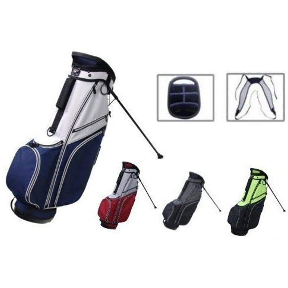 RJ Sports SB-595 Stand Bag - Grey/Navy