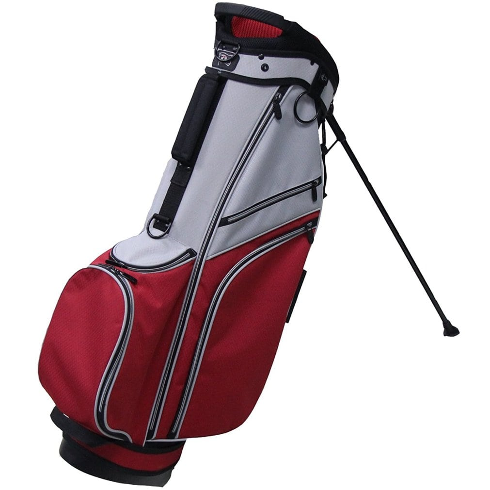 RJ Sports SB-595 Stand Bag - Grey/Red