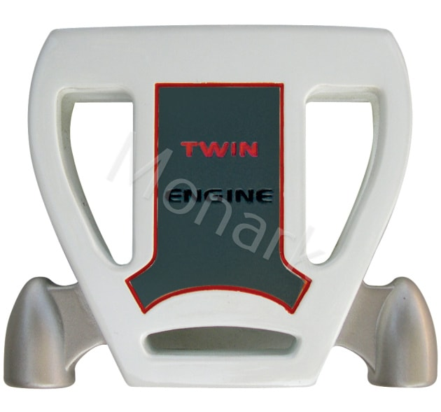 T-7 Twin Engine White Mallet Putter Head - Left Hand