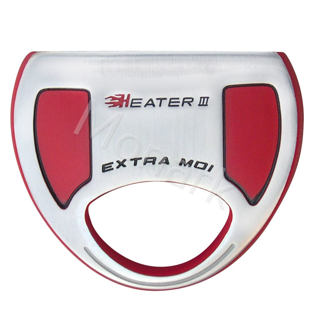 Heater III Extra MOI Mallet Putter Head - Red