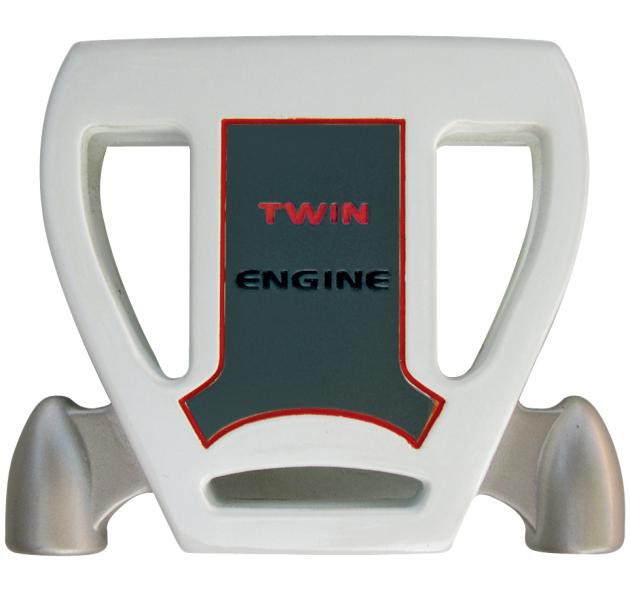 Custom-Built T7 Twin Engine White Mallet Putter