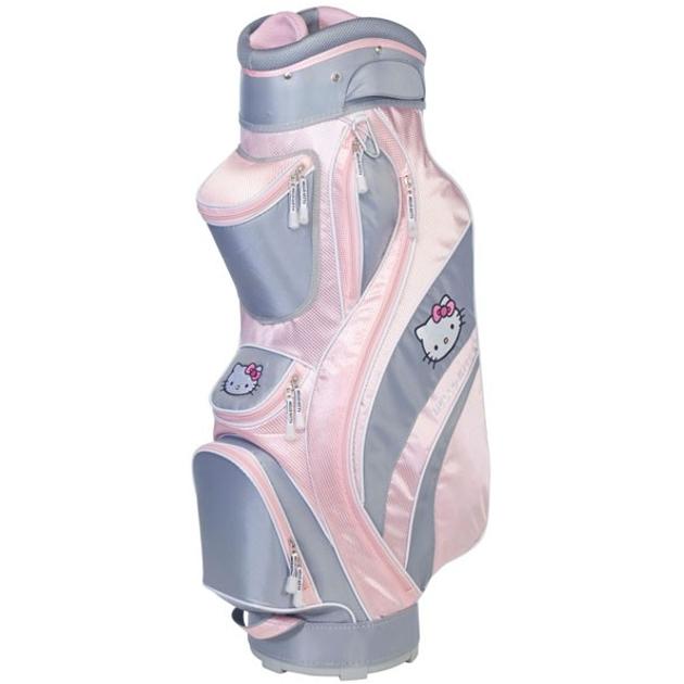 """Hello Kitty Golf """"Mix & Match"""" Cart Bag Gray/Pink"""