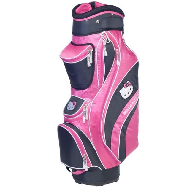"""Hello Kitty Golf """"Mix & Match"""" Cart Bag Black/Pink"""