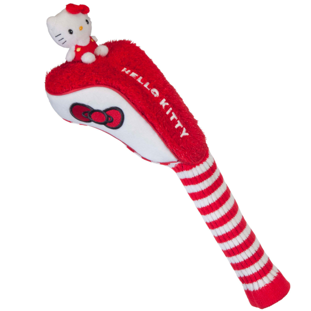 """Hello Kitty Golf Driver """"Mix & Match"""" Red/White Headcover"""