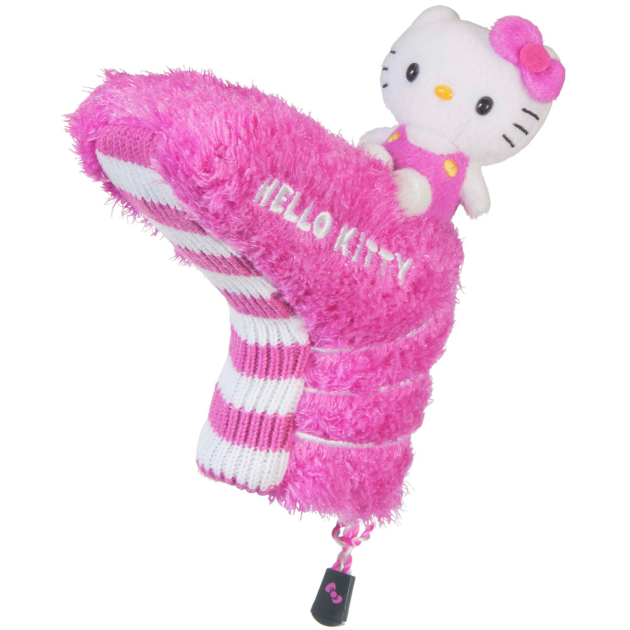 """Hello Kitty Golf """"Mix & Match"""" Putter Headcover Pink/White"""