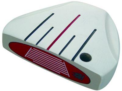 Custom-Built Heater 5.0 White Mallet Putter RH