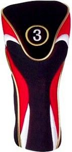 Red-Black Hybrid Head Cover
