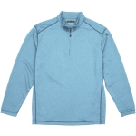 Pebble Beach Men's Performance Tech Golf Pullover 1/4 Zip Long Sleeve Shirt Blue