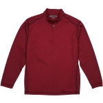 Pebble Beach Men's Performance Tech Golf Pullover 1/4 Zip Long Sleeve Shirt Burgundy