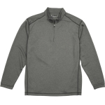 Pebble Beach Men's Performance Tech Golf Pullover 1/4 Zip Long Sleeve Shirt Charcoal