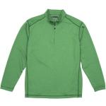 Pebble Beach Men's Performance Tech Golf Pullover 1/4 Zip Long Sleeve Shirt Green