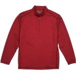 Pebble Beach Men's Performance Tech Golf Pullover 1/4 Zip Long Sleeve Shirt Red