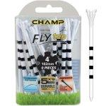 "Champ My Hite FLYTee - 4"" White / Striped Black Golf Tees 20 pack"
