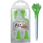 "Champ Zarma FLYTee Pro - 2.75"" White/Neon Green Golf Tees 4 pack"