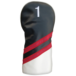 Synthetic Headcover Black/Red/White - Driver