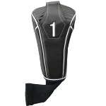Synthetic Black Headcover With Sock - Driver