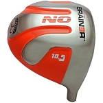 Geek Golf No Brainer Titanium Driver Head Orange