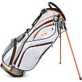 Sahara Gobi Golf Stand Bag White/Gray/Orange