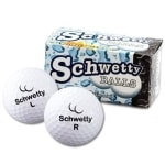 Schwetty Balls - White Pair Novelty Golf Balls