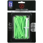 "Zero Friction 3 Prong 2.75"" Green Golf Tees - 40 pack"