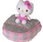 "Hello Kitty Golf ""Mix & Match"" Putter Mallet Headcover Grey/Pink"