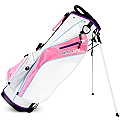 Sahara Baja Lite Golf Stand Bag Ladies White/Pink/Purple