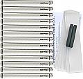 """Golf Pride Tour Wrap 2G Midsize (+1/16"""") White Grip Kit"""