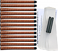 Tiger Synthetic Wrap Midsize Tan - 13 pc Grip Kit