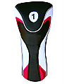 White-Black Driver Head Cover