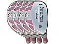Built iDrive Pink Hybrid 4-Club Steel Set