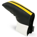 Sahara Retro Black/White/Yellow Golf Putter Headcover