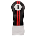 Sahara Retro Golf Headcover Black/Red/White - Driver