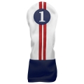 Sahara Retro Golf Headcover Red/White/Blue - Driver