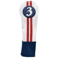 Sahara Retro Golf Headcover Red/White/Blue - Fairway Wood