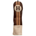 Sahara Retro Golf Headcover Brown/Beige - Hybrid